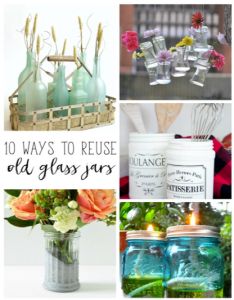 Decorative uses for glass jars